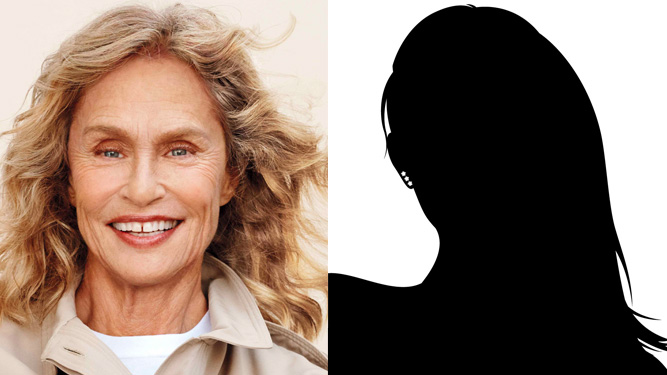 Lauren Hutton and Mystery Guest