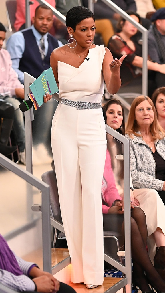 White Jumpsuit by Roland Mouret // Shoes by Saint Laurent // Earrings by Jennifer Miller