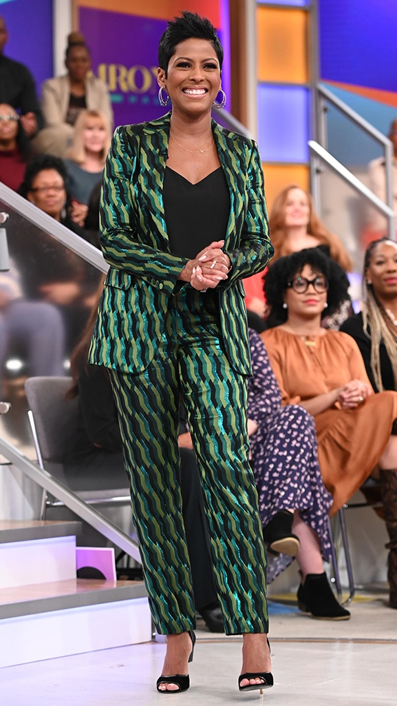 Green Suit by Dries Van Noten // Shoes by Givenchy // Earrings by Jennifer Miller