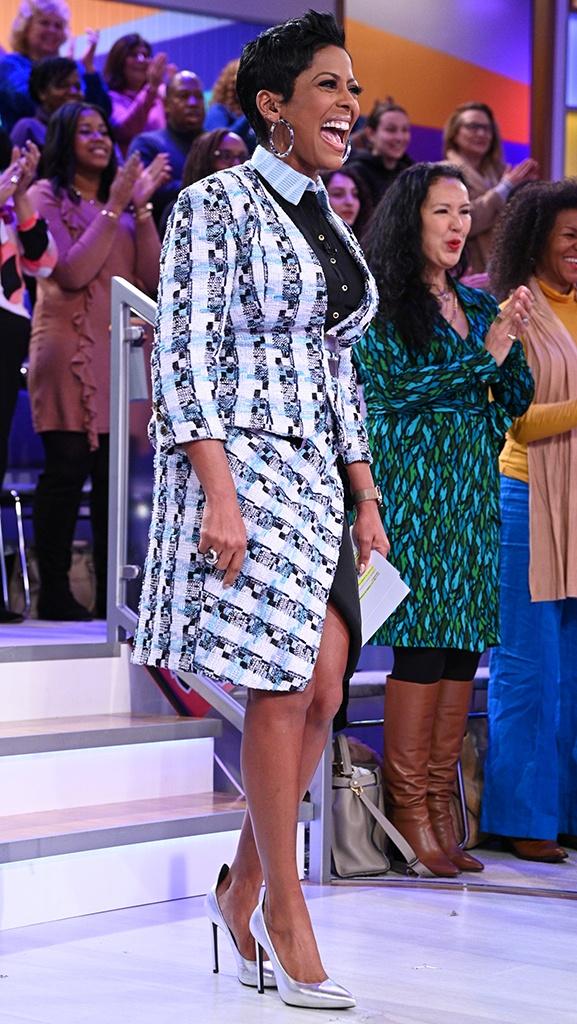 Skirt and Blazer by Leetal Platt // Shoes by Saint Laurent // Earrings by Jennifer Fisher